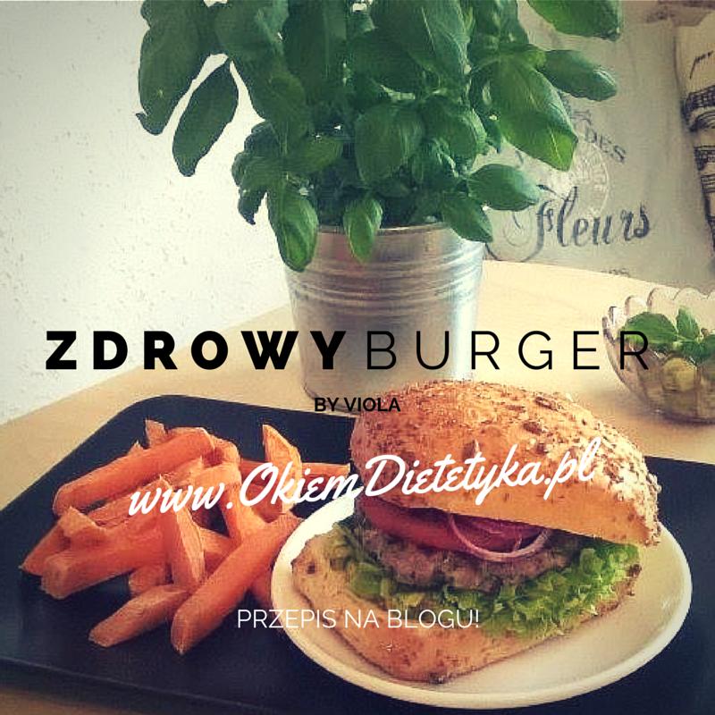 Dietetyczny burger z guacamole