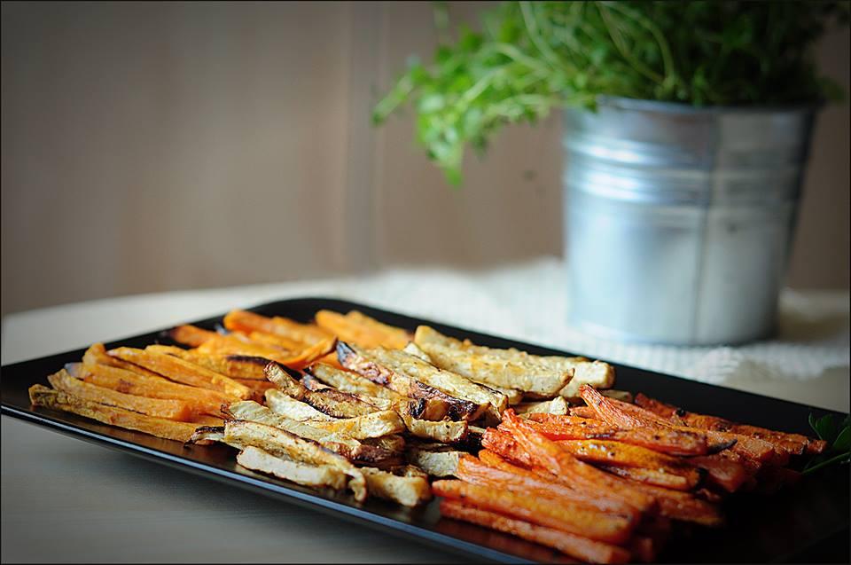Frytki z selera, marchewki i batatów prosto z pieca!