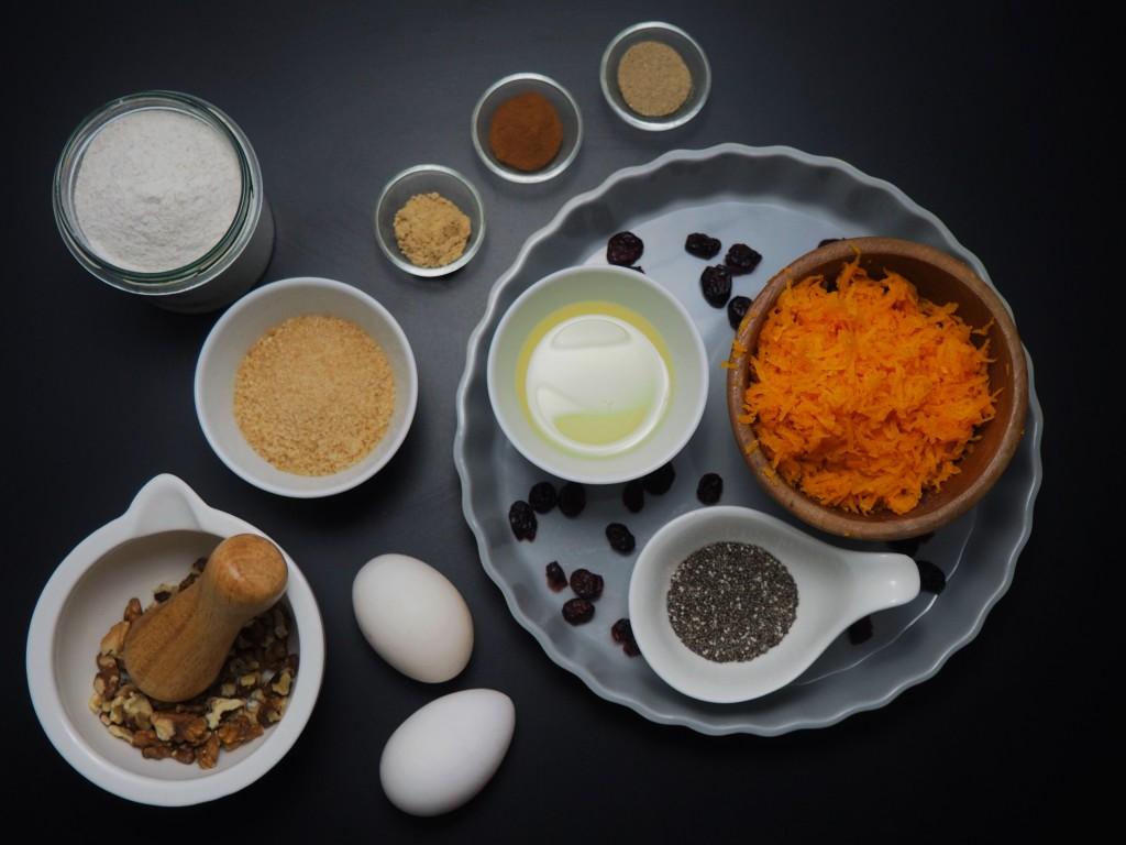 proste ciasto dyniowo-gryczane - składniki