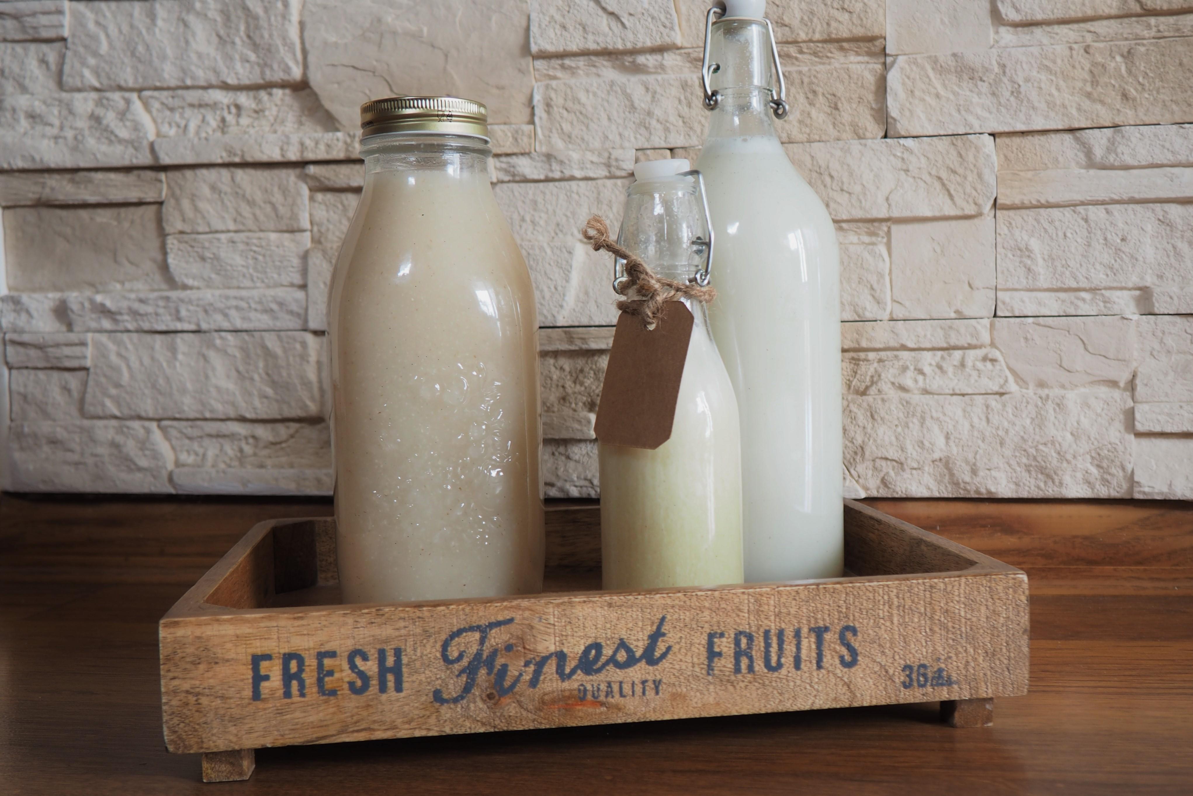 Mleko roślinne domowej roboty – ryżowe i owsiane
