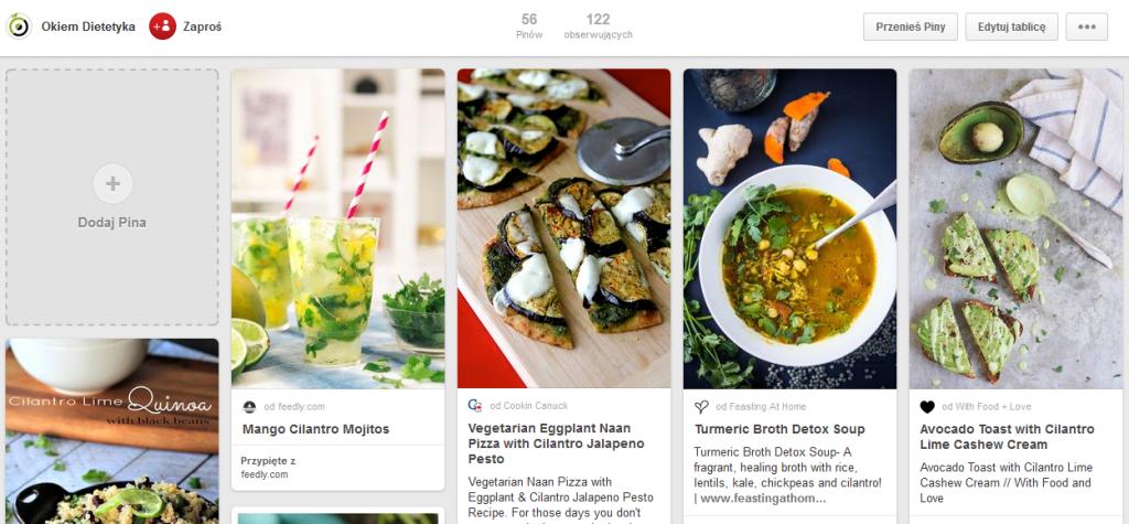 Pinterest Okiem Dietetyka
