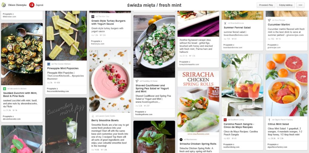 pinterest - tablica inspiracji kulinarnych
