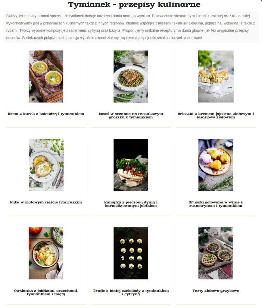 Przepisy Baziółki na dania z wykorzystaniem świeżego tymianku