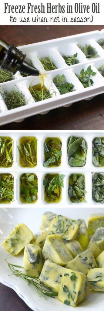 kostki oliwy z ziołami - źródło : www.chasingfoxes.com