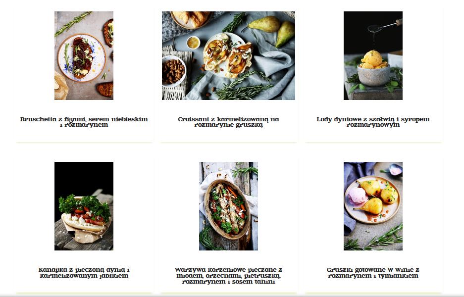 Przepisy baziółki na dania i napoje z rozmarynem (kliknij zdjęcie)