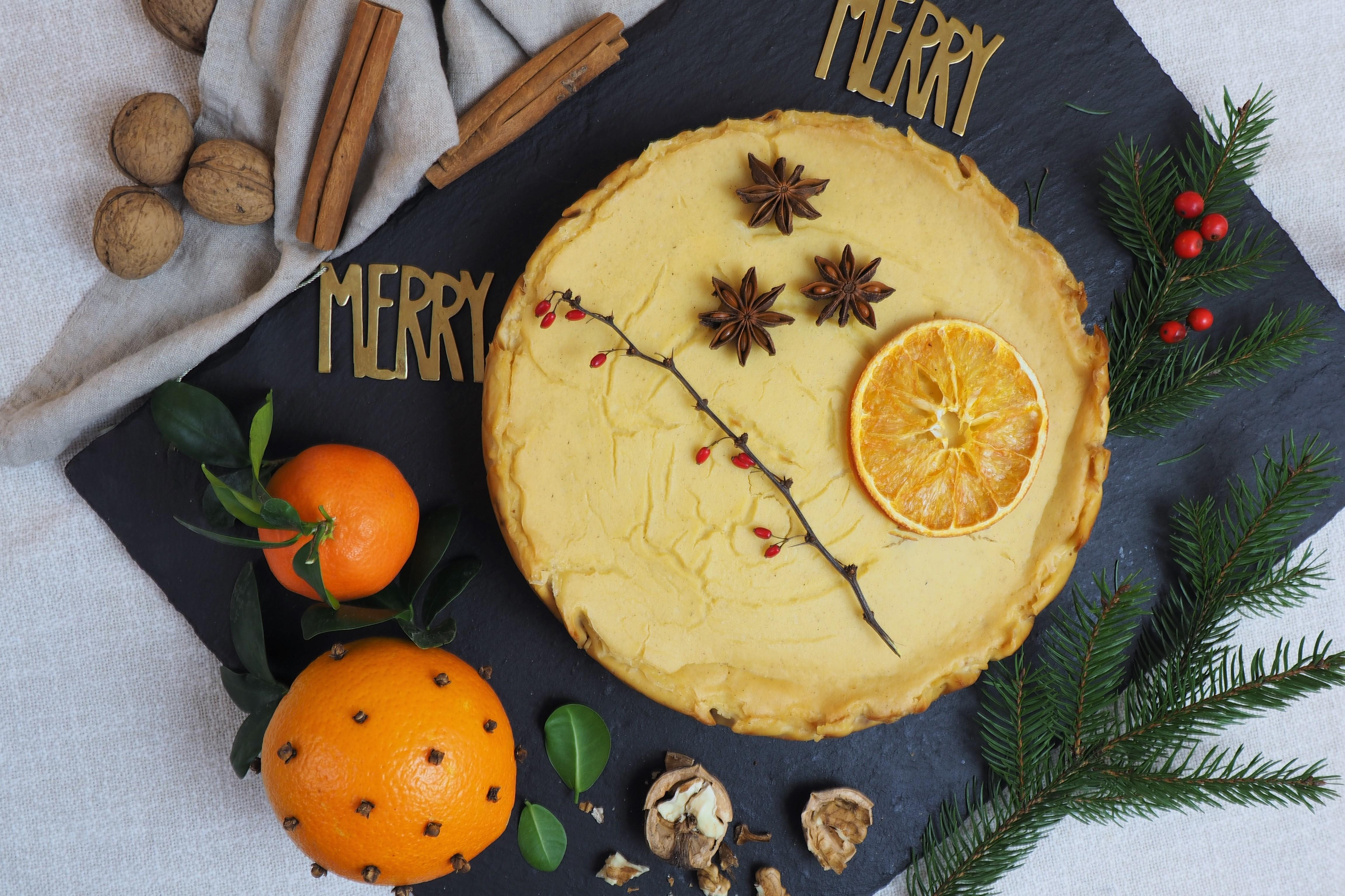 Tofurnik pomarańczowy z kardamonem