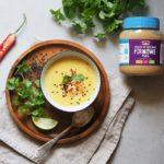Tajska zupa orzechowa z krewetkami