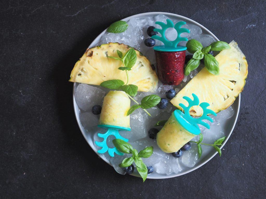 sorbet ananasowy ze świeżą miętą