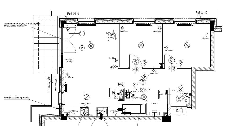 Plan mieszkania przed zmianami