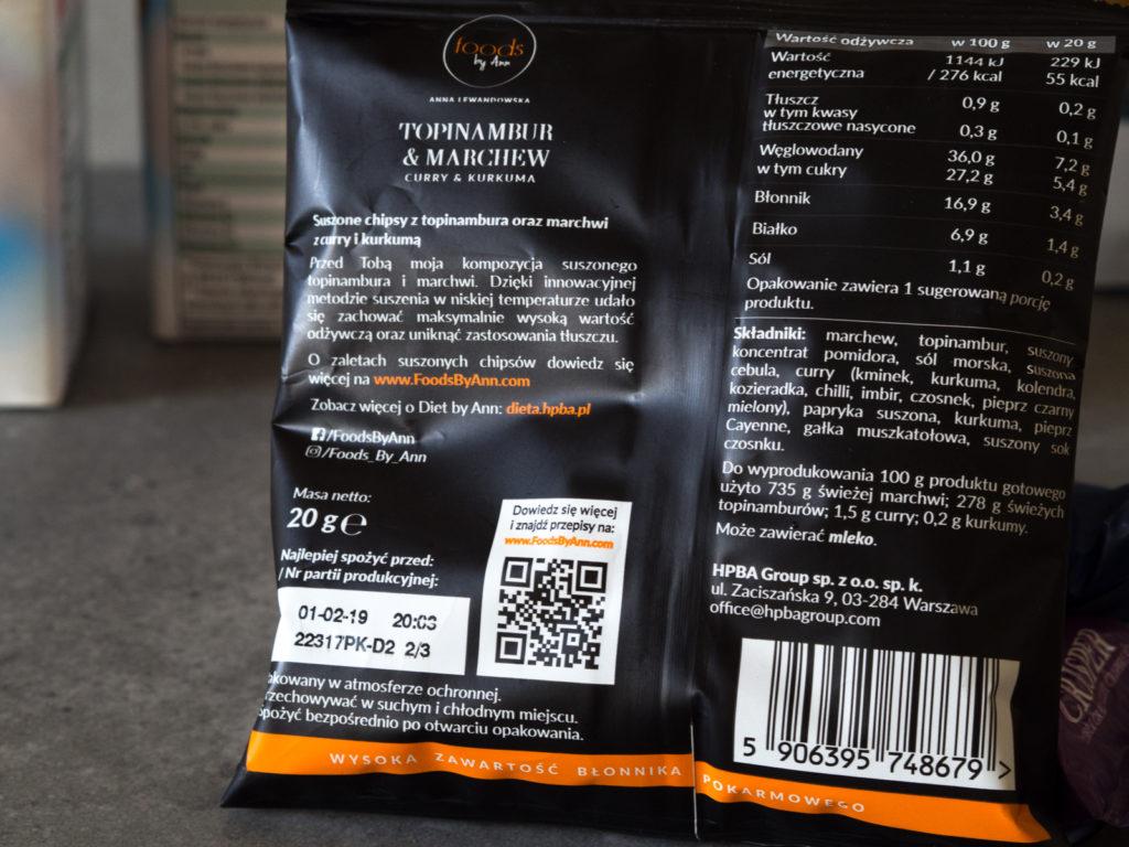 Zakupy dietetyka#1 Chipsy z topinamburu i marchewki - Food by Ann