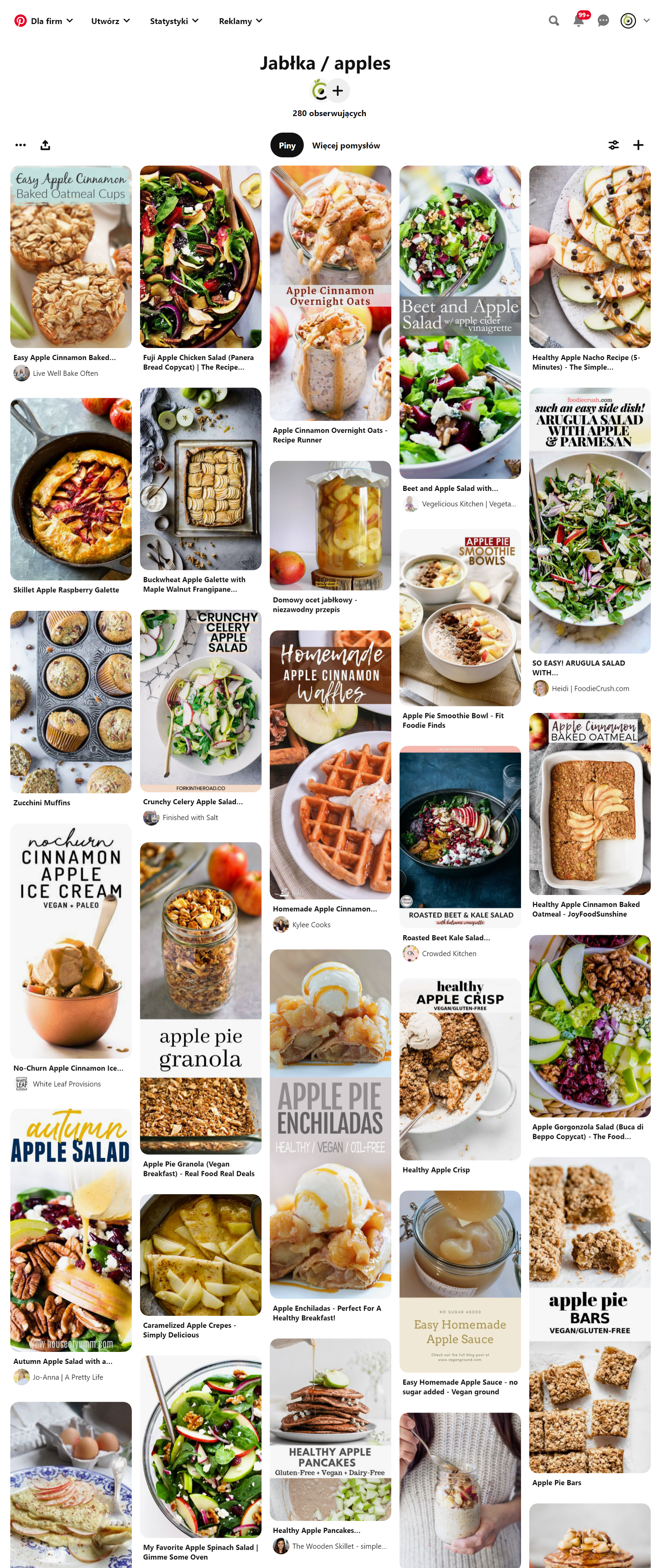 Zbiór inspiracji na dania z jabłkami znajdziesz na moim Pintereście - kliknij w obrazek :)