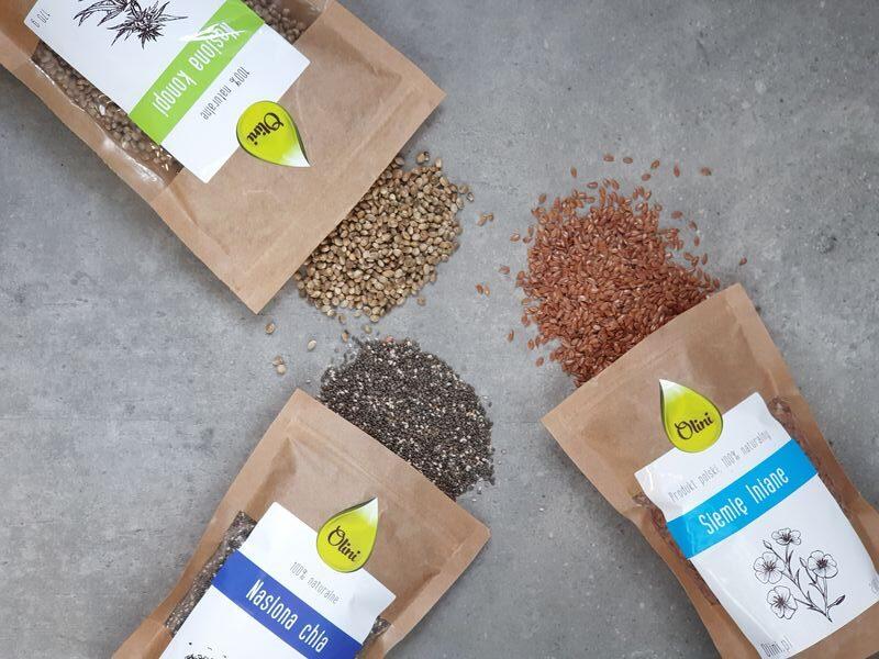 omega-3 na diecie roślinnej siemię chia nasiona konopi