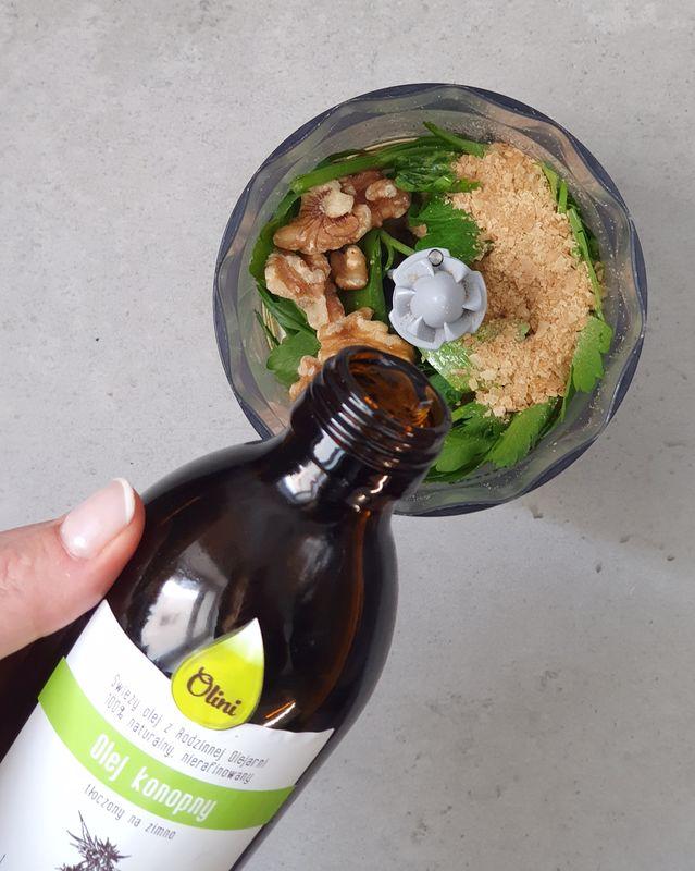 omega-3 na diecie roślinnej pesto